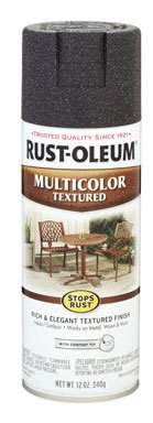 12 Oz Aged Iron Multicolor Texture Stops Rust Spray Paint [Set of 6] ()
