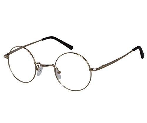 EyeBuyExpress Reading Glasses Mens Womens Gold Harry Potter Style Horned Rim Anti - Potter Frames Spectacles Harry