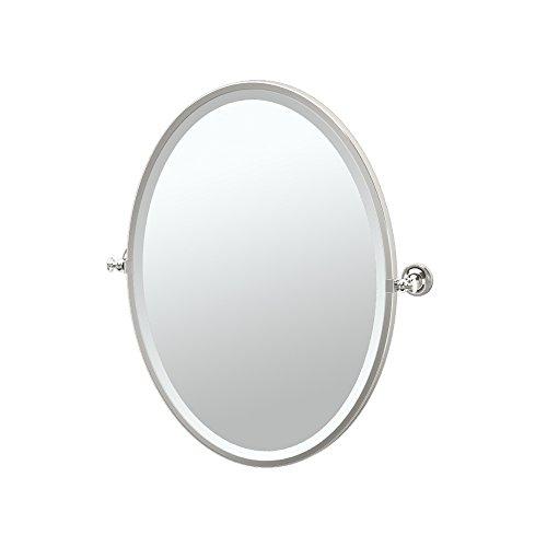 Gatco 4129F Tavern Framed Oval Mirror, Polished Nickel
