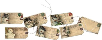 Gift Tags - Vintage Frosty - 2 Sets of 6