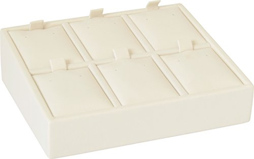 "Gunther Mele DA28D06PESB 6 Pierced Earring Tray, 4 5/8"" x 4"" x 1 1/2"" Size, Beige (Pack of 2)"