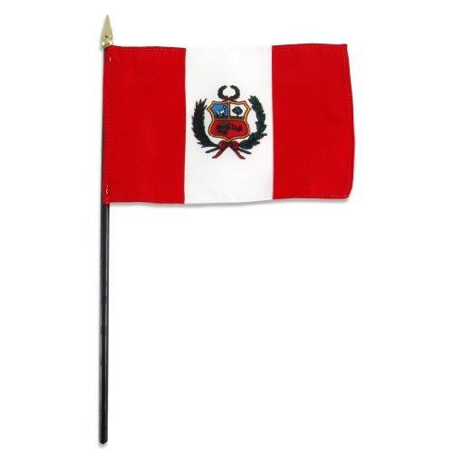 US Flag Store Peru Flag, 4 by 6-Inch