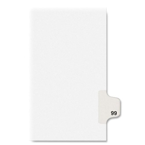 KLF91099 - Kleer-Fax Numeric Laminated Tab Index Dividers - Kleer Fax Index