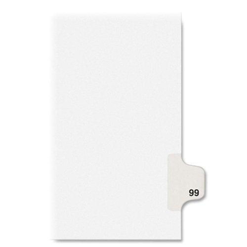 KLF91099 - Kleer-Fax Numeric Laminated Tab Index Dividers
