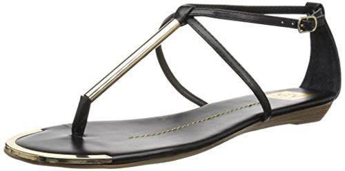 DV by Dolce Vita Women's Archer Flat Sandal, Black Stella, 6.5 M US