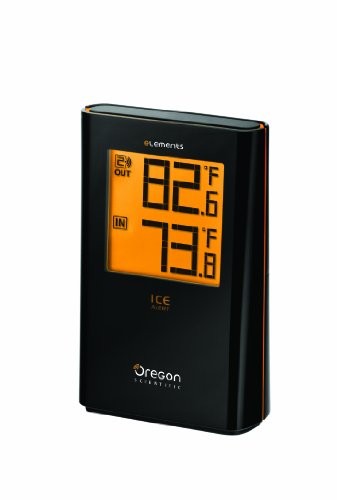 Oregon Scientific EW91 Wireless Indoor/Outdoor Thermometer with Ice Alert (Oregon Scientific Wireless Thermometer With Atomic Clock)