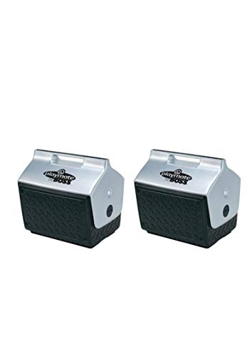 (Igloo Playmate The Boss Cooler (2 Pack,Black/Silver))