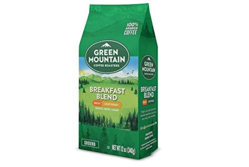 Green Mountain Coffee Roasters Breakfast Blend Decaf whole bean coffee, 12 oz bag