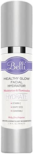 Belli Healthy Glow Facial Hydrator – Illuminates with Vitamin C, Grape Seed Oil, and Chamomile – OB/GYN and Dermatologist Recommended - 1.5 oz.