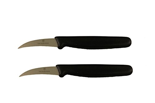 Victorinox Forschner Utility Knife with 2.5-Inch Curved Blade (2-Pack), Black Handle