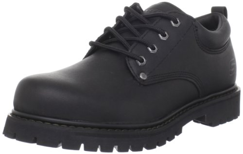 Skechers Men's Tom Cats Utility Shoe, Black, 9.5 M US (Skechers Oxford Mens Shoes)