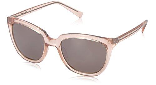 Calvin Klein Women's R711S Cateye Sunglasses, Crystal Nude, 55 - Sunglasses Beige