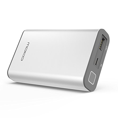 10050mAh QC 3.0 Power Bank, [Fast & Compact] MoKo High Speed Charging External Battery Charger, Qualcomm Quick Charge 3.0 Port for iPhone X/ 8/ 8 Plus, Samsung Galaxy S8/ Note 8, ipad Pro 10.5, Silver