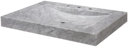 Ryvyr SVT300WT Stone Vanity Top, Carrera Marble