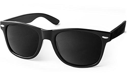 UVprotect® Wayfarer Design Sonnenbrille Schwarz W01