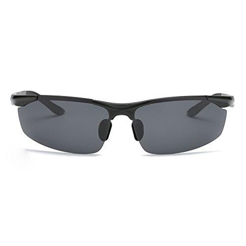 hombres clásico Gold Color magnesio aluminio de de Black polarizadas Frame Lens Lens de los Grey conducción Black espejo sol Gray Black medio Frame Gafas nuevas marco Zax6wZF