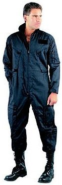7502 Air Force Style Black Flightsuit (Small)