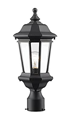 Z-Lite 540PHM-BK 1 Outdoor Post Mount Light 1
