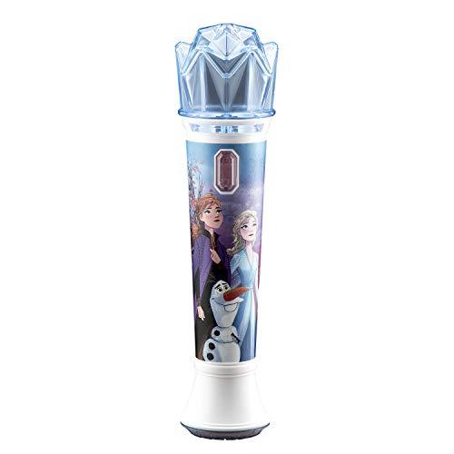 eKids Disney Frozen 2 Karaoke Sing Along Microphone for Kids, Built in Music, Flashing Lights, Pretend Mic, Toys for Kids Karaoke Machine, Connects MP3 Player Aux in Audio Device -  70