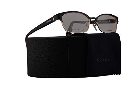 Prada PR53SV Eyeglasses 54-16-140 Top Brown On Pale Gold w/Demo Clear Lens ZVN1O1 VPR53S VPR 53S PR 53SV