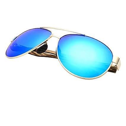 LKVNHP Nueva Vintage Gafas De Sol Hombre Polarizado Fibra De ...