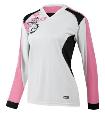 Louis Garneau Evo Jersey 2 - Long-Sleeve - Women's White/Pink, L