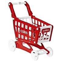 Coles Mini Little Shop Shopping Trolley Toy, Mini Supermarket Shopping Cart, Pretend Play Set for Kids, Educational…