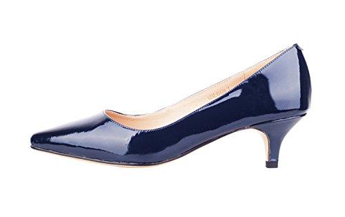 NIUERTE Wife, Bas Femme - Bleu - Navy Patent,