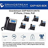 Grandstream GXP1625, 2 SIP acct., SMB IP Phone, Multi-language PoE Bundle of 6