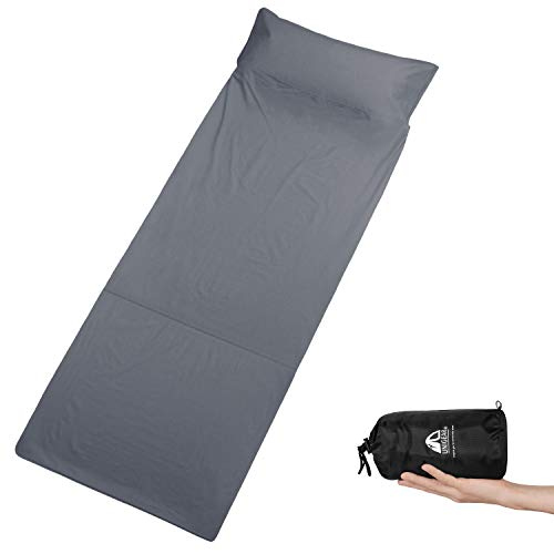Unigear Sleeping Bag Liner and Camping Sheet – Compact & Lightweight Sleep Sack for Traveling, Hostels, Camping & Backpacking
