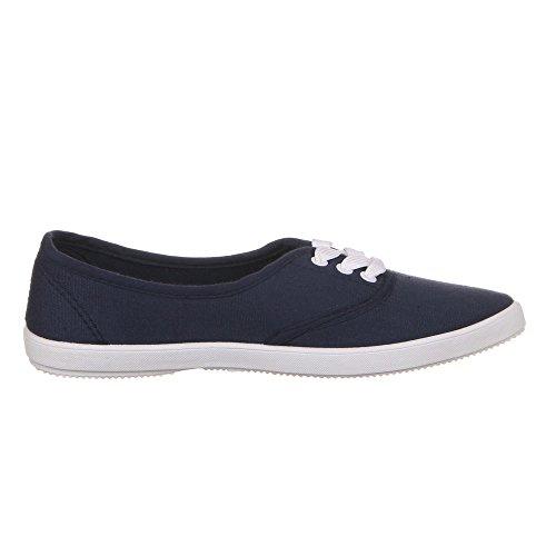 Ital-Design - Zapatos de cordones para mujer Azul - azul oscuro