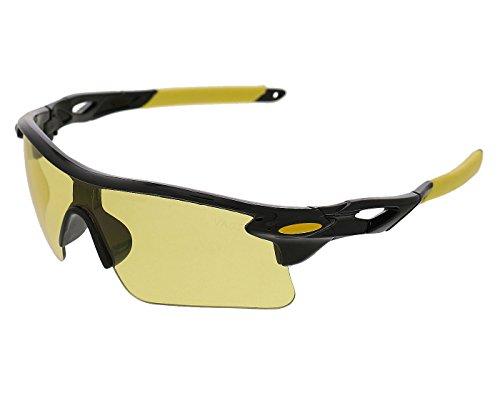 Vast UV Protected Sport Unisex Sunglasses (SPORTY_HALF_JACKET_9181C1_yellow 60 yellow)