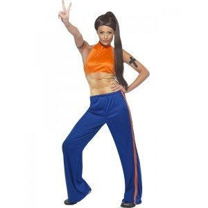 2eb16b0c9cfe5 Loadsa Gifts Sporty Spice 1990 s Fancy Dress Costume  Amazon.co.uk  Toys    Games