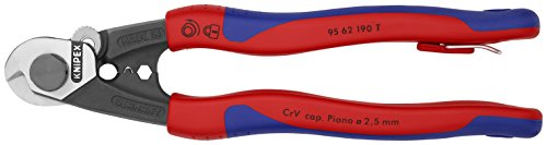 Knipex Tools 95 62 190 T BKA 7 1/2'' Wire Rope Cutters, Tether Attachment-Comfort Grip, by KNIPEX Tools (Image #2)