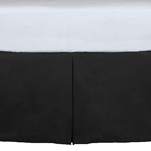 Tailored Crib Dust Ruffle 15 inches long, Black