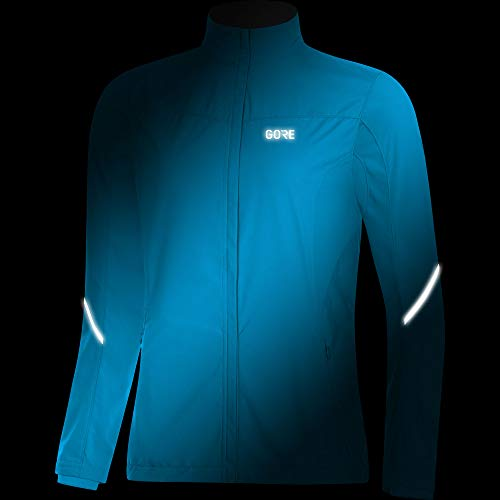 GORE Wear Women's Windproof Running Jacket, R3 Women's Partial WINDSTOPPER Jacket, Size: L, Color: Dynamic Cyan, 100081 by GORE WEAR (Image #2)