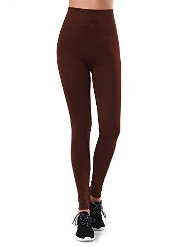 Teejoy Womens Polyester Waisted Leggings