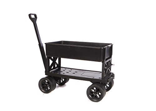 Mighty Max Cart All Purpose Utility and Garden Cart with Black Tub, 400 Lb Capacity by Mighty Max Cart