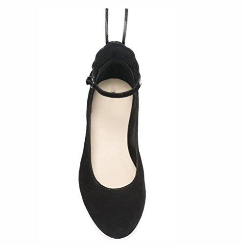 XIE Ballerines colorées papillon ailes noires en daim chaussures tête ronde déduction de mot 37 0qwYec5
