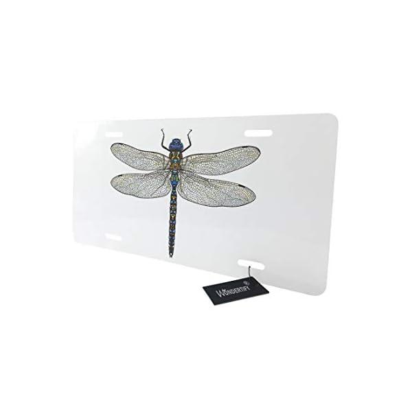 WONDERTIFY-Dragonfly-License-PlateBlue