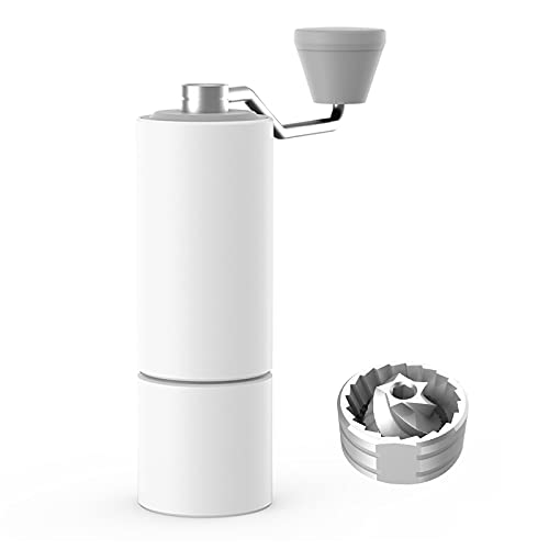 TIMEMORE Chestnut C2 Manual Coffee Grinder Capacity 25g with CNC Stainless Steel Conical Burr, Internal Adjustable Setting, Double Bearing Positioning, French Press Coffee for Hand Grinder Gift, White