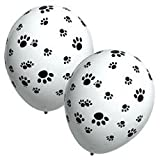 "Single Source Party Supplies - 11"" Paw Prints Latex Balloons Bag of 5"