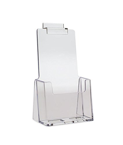 Slotwall Accessory - Source One 2 Pack Clear Slotwall Trifold Brochure Holders (2Slot-TriFolds)