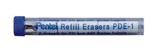 (Pentel Quicker Clicker Automatic Pencil pack of 5 eraser refills)