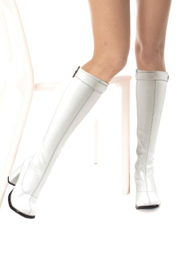Ellie Shoes Women's 3 Inch Knee High Boots with Zipper and Buckle (White;10)