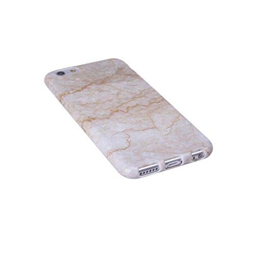 ZXLZKQ pour iPhone 5 / 5S / SE Etui Ultra Mince Jaune Naturel Marbre Motif Souple TPU Silicone Case Housse Coque pour Apple iPhone 5 / 5S / SE (non applicable iPhone 5C)