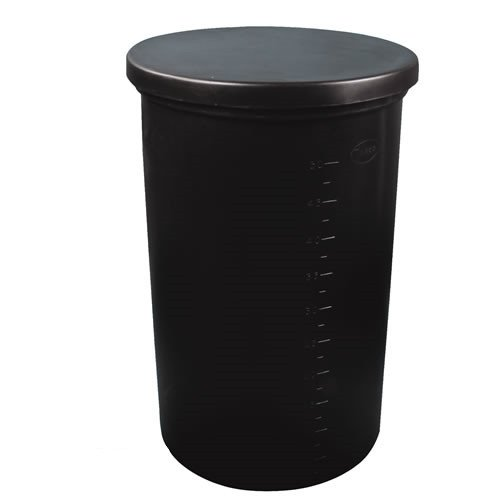 55 Gallon Black Polyethylene Brine Tank - 22inch Dia. x 36inch High
