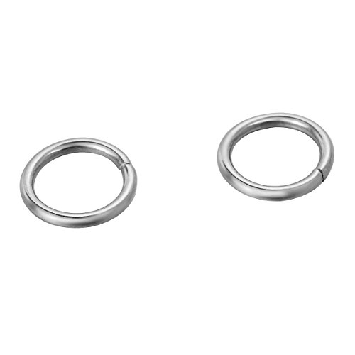 VALYRIA 500pcs Silver Tone Stainless Steel Open Jump Rings for Jewelry Making,3mmx0.5mm