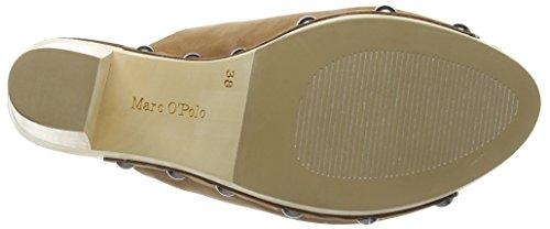 Marc O'Polo High Heel Peeptoe - Sandalias de Plataforma Mujer Marrón - Braun (cognac 720)