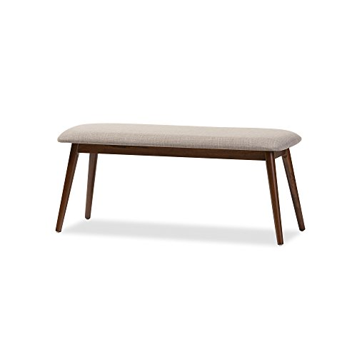 Baxton Studio Juliette Mid-Century Modern Dining Bench, Medium, French Oak by Baxton Studio